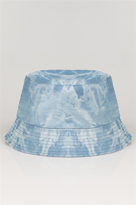 Denim Bleached Bucket Hat