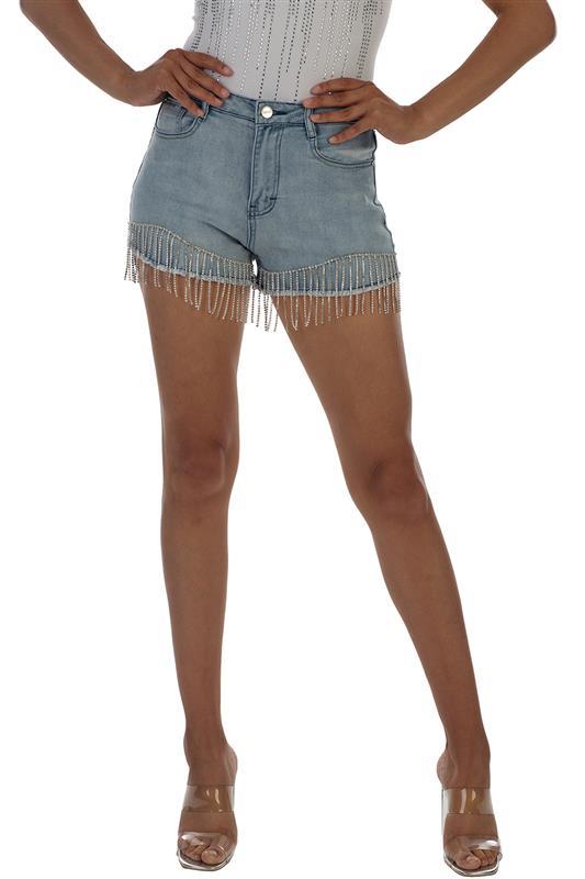Aerosmith:Ryder Shorts With Diamante Fringe