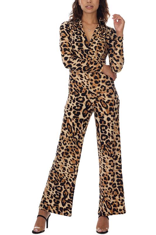 Printed Leopard Jumpuit