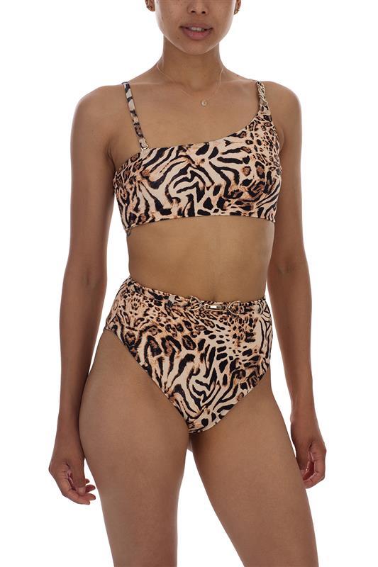 DUO: High Waist Animal Print Bikini Bottom