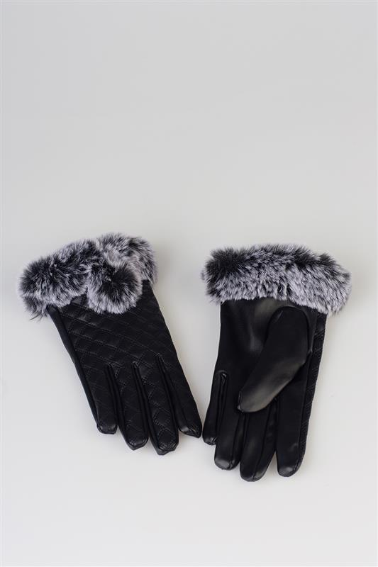 PU Quilted Glove