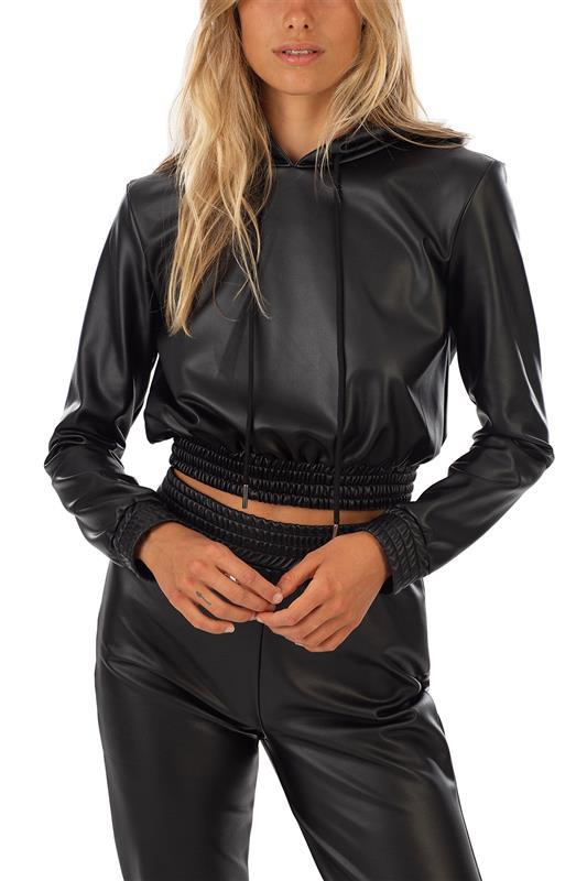 The Hood Pleather Jacket