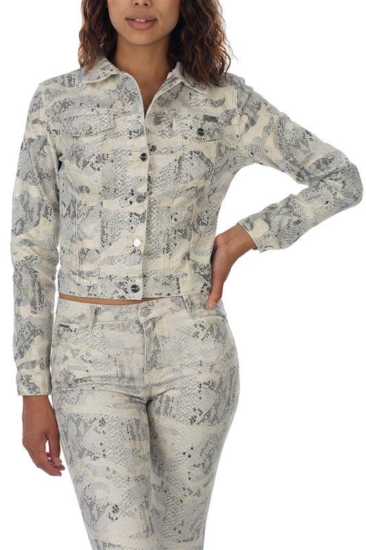 So lit :Jacket In Snake Camo Print