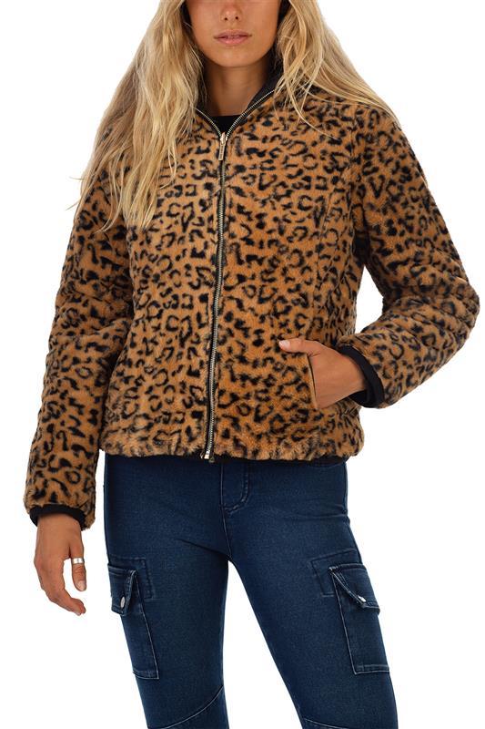 BANO: Reversible Puffer/ Animal Faux Fur Jacket