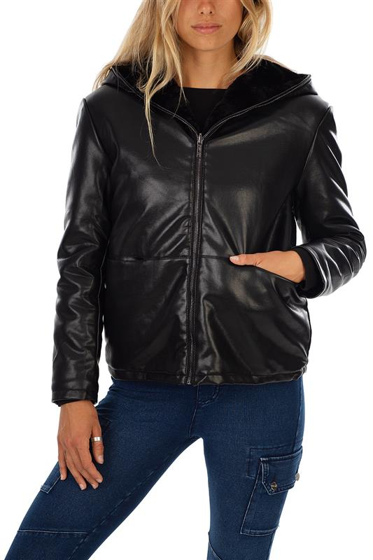 WOWZA: Reversible PU / Faux Fur Jacket