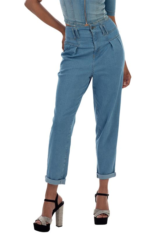 Lego: high rise pleated jeans (relaxed fit)