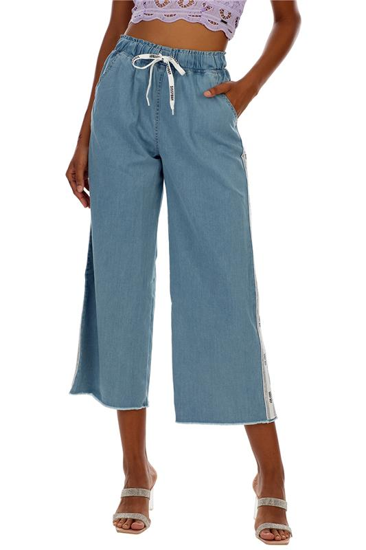 Wonder:Flare Pull Up Pants With Tape