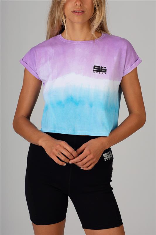 Sissyboy Sport: Tie Dye Crop Logo Tee