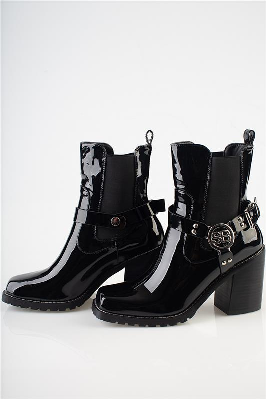 Patent Case - Patent Chunky Boot