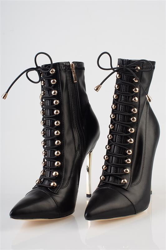 In Victorian - Lace Up Pointed Boot