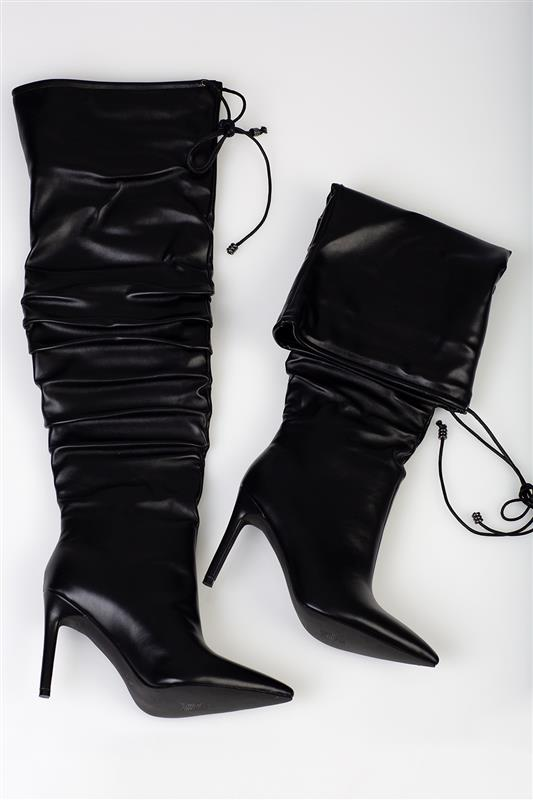 Up Tall Night - Over The Knee Black Boot