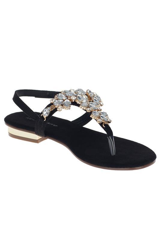Crystal Clear Embellished Thong Sandal