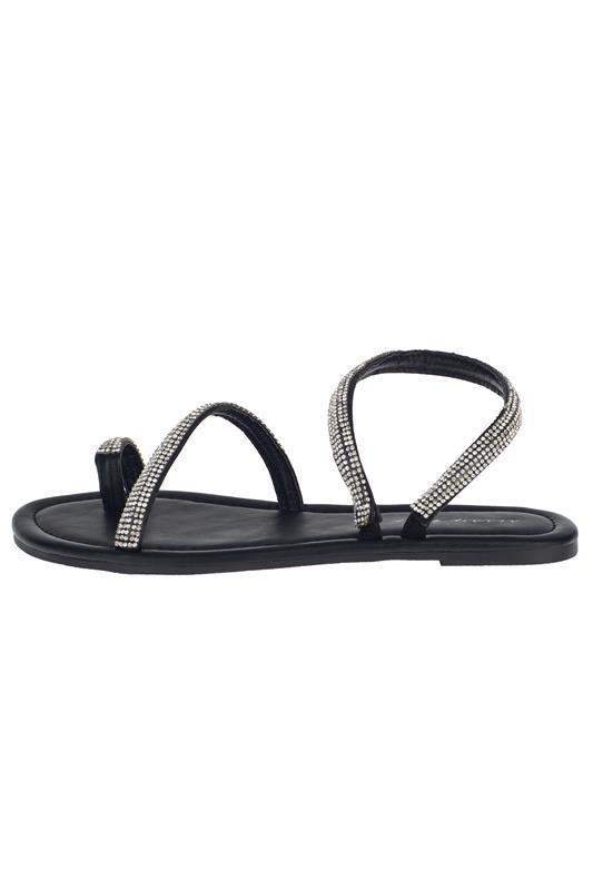 Step By Step Bling Toe Loop Sandal