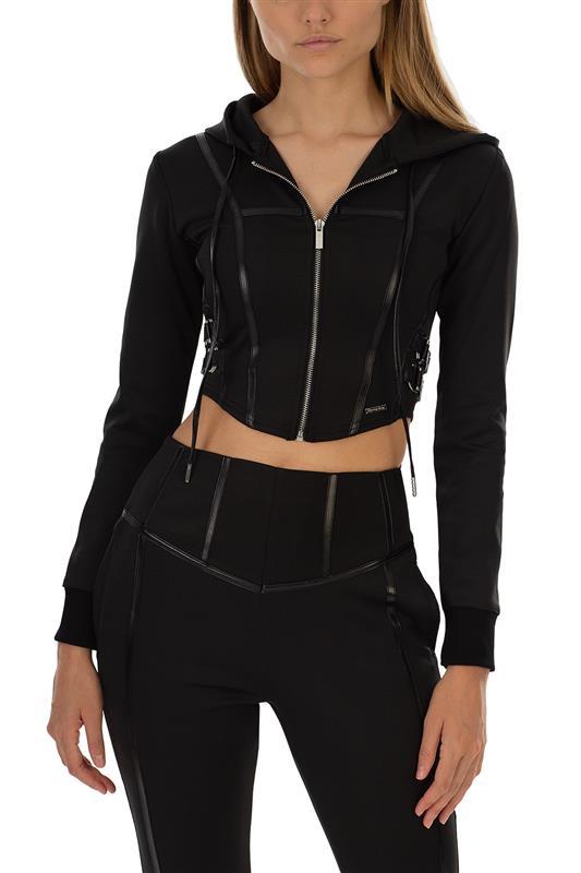V FANCY: Scuba Athlesiure Fashion Track Jacket - SET